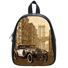 Vintage Old Car School Bags (small)  by Valentinaart