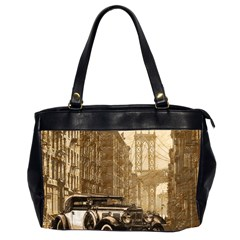 Vintage Old Car Office Handbags (2 Sides)  by Valentinaart