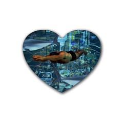 Urban Swimmers   Rubber Coaster (heart)  by Valentinaart