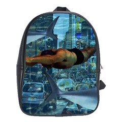 Urban Swimmers   School Bags(large)  by Valentinaart