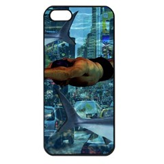 Urban Swimmers   Apple Iphone 5 Seamless Case (black) by Valentinaart