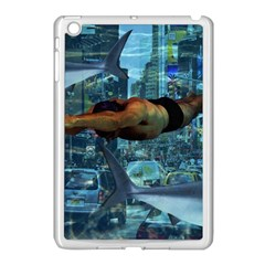 Urban Swimmers   Apple Ipad Mini Case (white) by Valentinaart