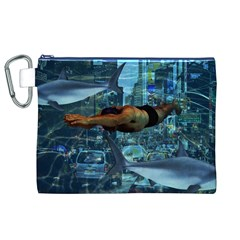 Urban Swimmers   Canvas Cosmetic Bag (xl) by Valentinaart