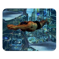 Urban Swimmers   Double Sided Flano Blanket (large)  by Valentinaart