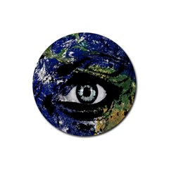 Mother Earth  Rubber Coaster (round)  by Valentinaart