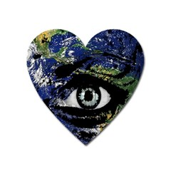 Mother Earth  Heart Magnet by Valentinaart