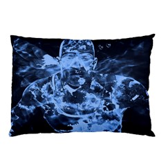Blue Angel Pillow Case (two Sides) by Valentinaart