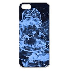Blue Angel Apple Seamless Iphone 5 Case (clear) by Valentinaart