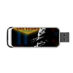 Elvis Presley - Las Vegas  Portable USB Flash (Two Sides) by Valentinaart