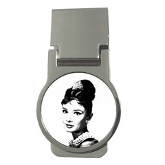 Audrey Hepburn Money Clips (round)  by Valentinaart