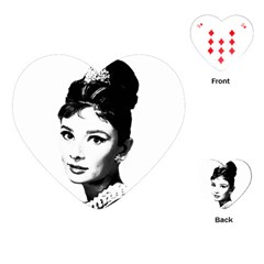 Audrey Hepburn Playing Cards (heart)  by Valentinaart