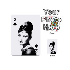 Audrey Hepburn Playing Cards 54 (mini)  by Valentinaart