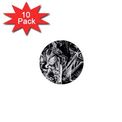 Gray Girl  1  Mini Buttons (10 Pack)  by Valentinaart