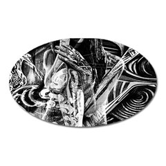 Gray Girl  Oval Magnet by Valentinaart