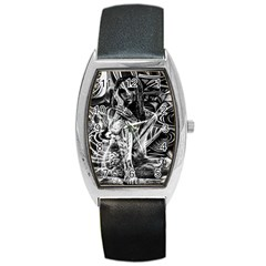 Gray Girl  Barrel Style Metal Watch by Valentinaart