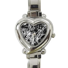 Gray Girl  Heart Italian Charm Watch by Valentinaart