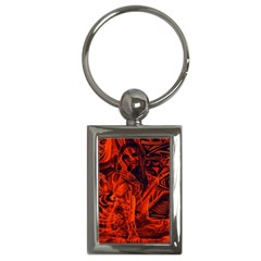 Red Girl Key Chains (rectangle)  by Valentinaart