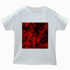 Red girl Kids White T-Shirts