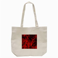 Red Girl Tote Bag (cream) by Valentinaart