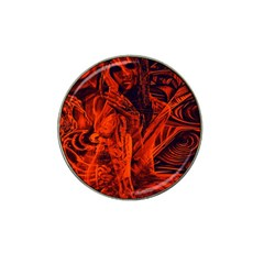 Red Girl Hat Clip Ball Marker (10 Pack)