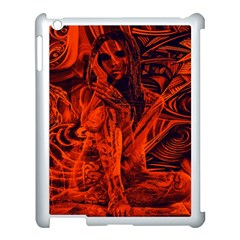 Red Girl Apple Ipad 3/4 Case (white) by Valentinaart