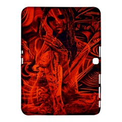 Red Girl Samsung Galaxy Tab 4 (10 1 ) Hardshell Case  by Valentinaart