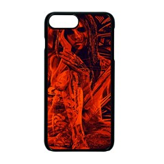 Red girl Apple iPhone 7 Plus Seamless Case (Black) by Valentinaart
