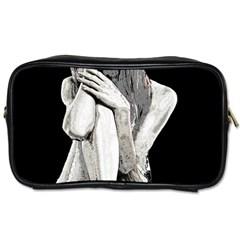 Stone Girl Toiletries Bags 2 Side by Valentinaart