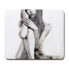 Stone Girl Large Mousepads by Valentinaart