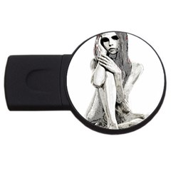 Stone Girl Usb Flash Drive Round (4 Gb) by Valentinaart