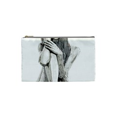 Stone Girl Cosmetic Bag (small)  by Valentinaart
