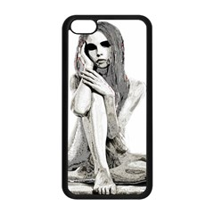 Stone Girl Apple Iphone 5c Seamless Case (black) by Valentinaart
