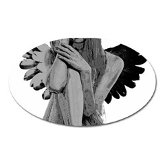 Stone Angel Oval Magnet by Valentinaart