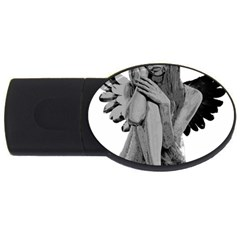 Stone Angel Usb Flash Drive Oval (2 Gb) by Valentinaart