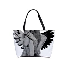 Stone Angel Shoulder Handbags by Valentinaart