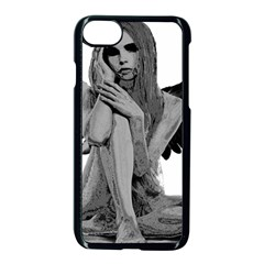 Stone Angel Apple Iphone 7 Seamless Case (black) by Valentinaart