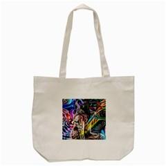Graffiti Girl Tote Bag (cream) by Valentinaart