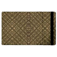 Wooden Ornamented Pattern Apple iPad 2 Flip Case