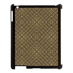 Wooden Ornamented Pattern Apple Ipad 3/4 Case (black) by dflcprints