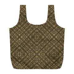 Wooden Ornamented Pattern Full Print Recycle Bags (l)  by dflcprints