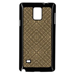Wooden Ornamented Pattern Samsung Galaxy Note 4 Case (black) by dflcprints