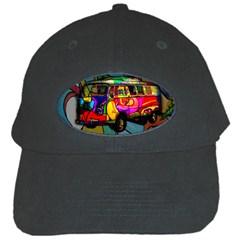 Hippie Van  Black Cap by Valentinaart
