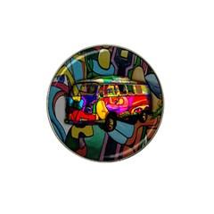 Hippie Van  Hat Clip Ball Marker by Valentinaart