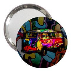 Hippie Van  3  Handbag Mirrors by Valentinaart