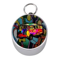 Hippie Van  Mini Silver Compasses by Valentinaart