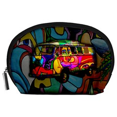 Hippie Van  Accessory Pouches (large)  by Valentinaart