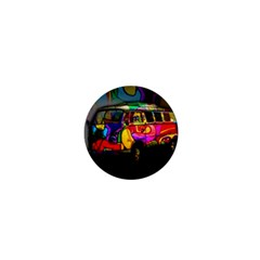 Hippie Van  1  Mini Buttons by Valentinaart