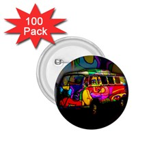 Hippie Van  1 75  Buttons (100 Pack)  by Valentinaart