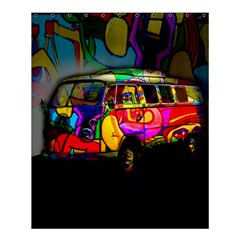 Hippie Van  Shower Curtain 60  X 72  (medium)  by Valentinaart
