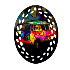 Hippie Van  Ornament (oval Filigree) by Valentinaart